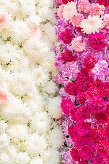 Flor cravo e flor de crisântemo