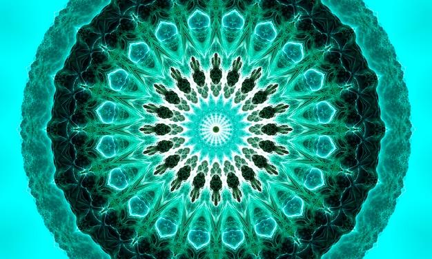 Flor de nefrite profunda. padrão sem emenda decorativo moderno abstrato de elementos geométricos em tons de nefrite. formas geométricas de jade