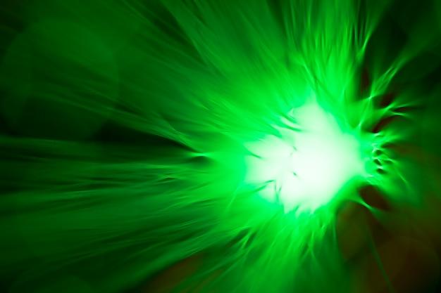 Flor verde abstrata por fibras ópticas