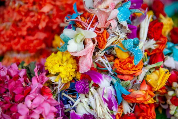 Flores à venda no mercado de flores em singapura