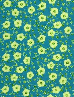 Flores amarelas em papel azul
