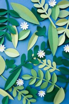 Flores artesanais design de arte papercraft
