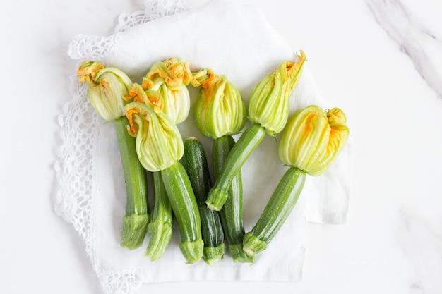 Flores comestíveis courgette