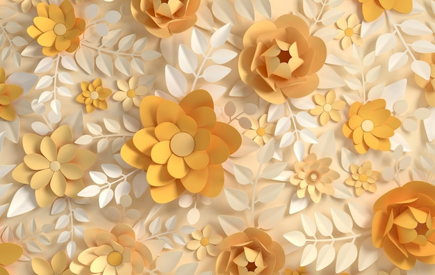 Flores de papel elegantes em tons pastel