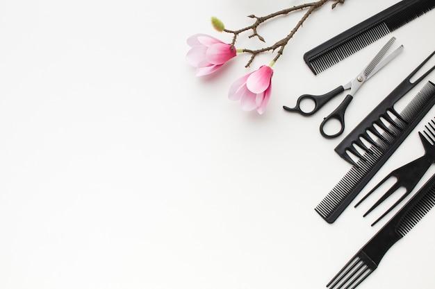 Flores de sakura e acessórios para o cabelo