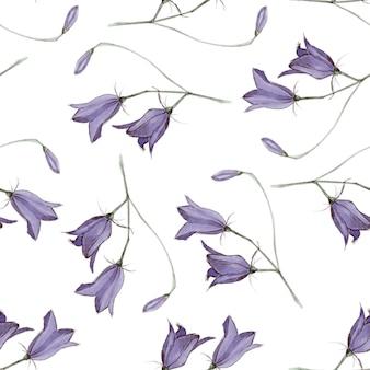 Flores de sino violeta