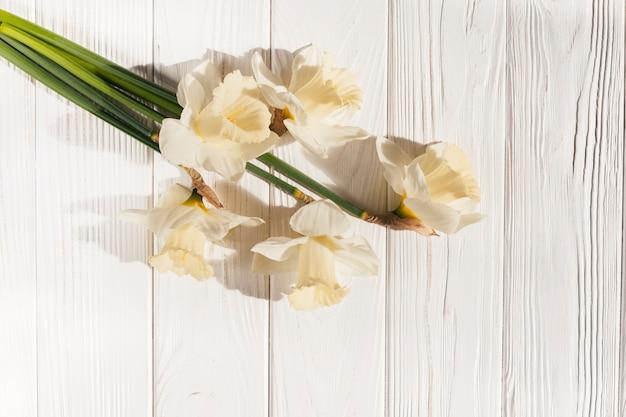 Flores decorativas com textura de madeira