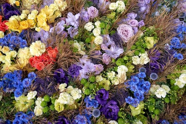 Flores do verão colorido. vista do topo