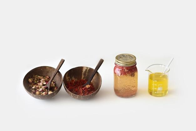 Flores e óleos de extratos vegetais