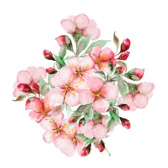 Flores em aquarela sakura