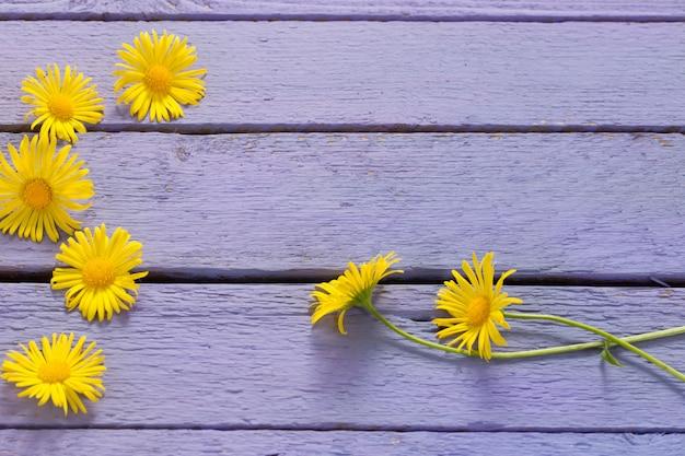 Flores em madeira