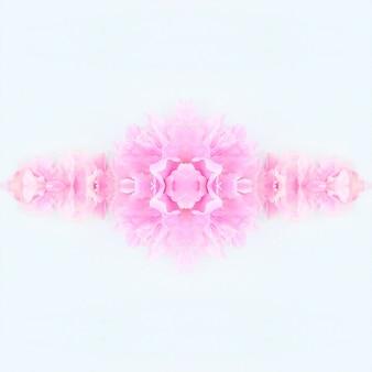 Flores rosa cor de rosa desfocadas, fundo de padrão floral primavera Foto Premium