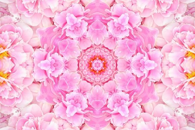 Flores rosa cor de rosa desfocadas, fundo de padrão floral primavera