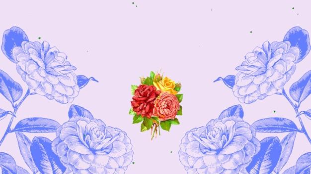 Flores rosas de verão vintage em close-up, plano de fundo do casamento
