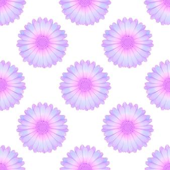 Flores roxas isoladas em um fundo branco. padrão sem emenda. foto de alta qualidade