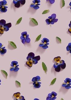 Flores violeta sem costura de fundo