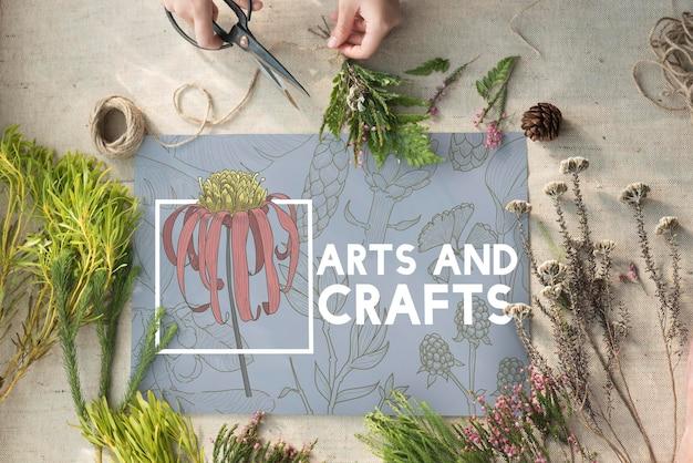 Florescentes florais, artes e artesanatos, natureza