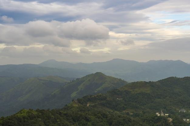 Florestas e montanhas.