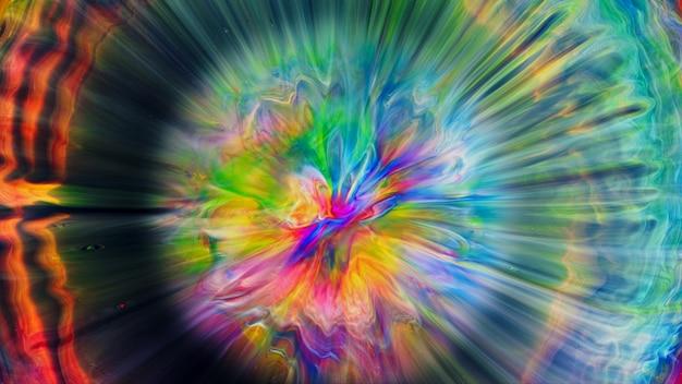 Fluido líquido arte tintas a óleo acrílicas textura. efeito de pintura de mistura abstrata de pano de fundo. a arte em acrílico de cor líquida flui respingos. textura fluida de arte transbordando de cores