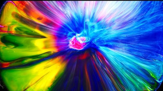 Fluido líquido arte tintas a óleo acrílico textura. efeito de pintura de mistura abstrata de pano de fundo. a arte em acrílico de cor líquida flui respingos. textura fluida de arte transbordando de cores