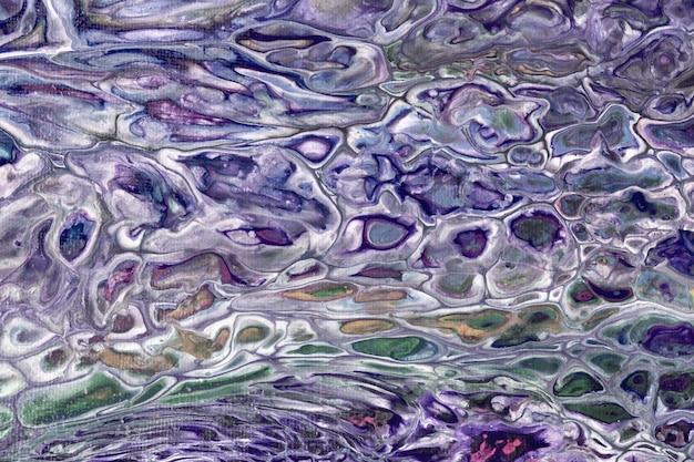 Fluido ou líquido abstrato de arte de fundo azul marinho e cores verdes