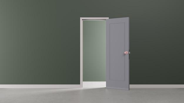 Foco interno do projeto da luz de abertura da porta da parede