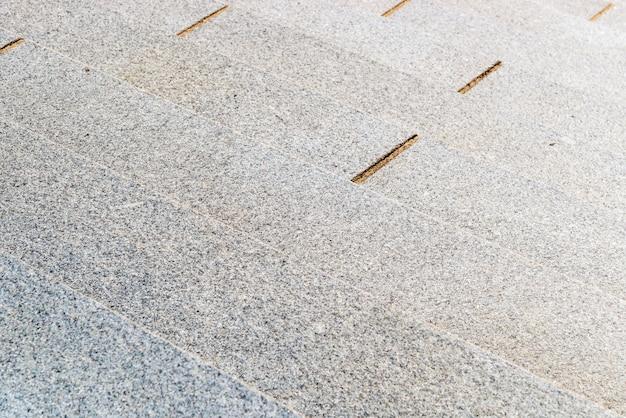 Foco seletivo e close up de escadas de pedra