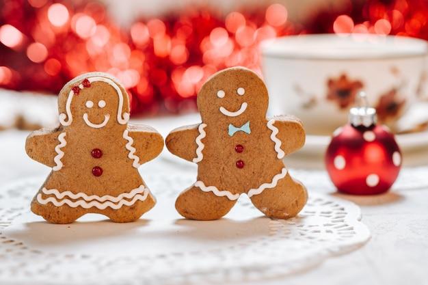 Fofinho feito à mão tema de natal decorados cookies