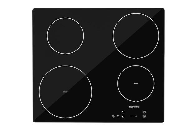 Fogão cooktop de indução em um fundo branco
