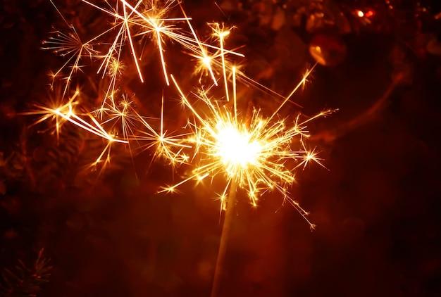 Fogo bengali. plano de fundo festivo de ano novo.