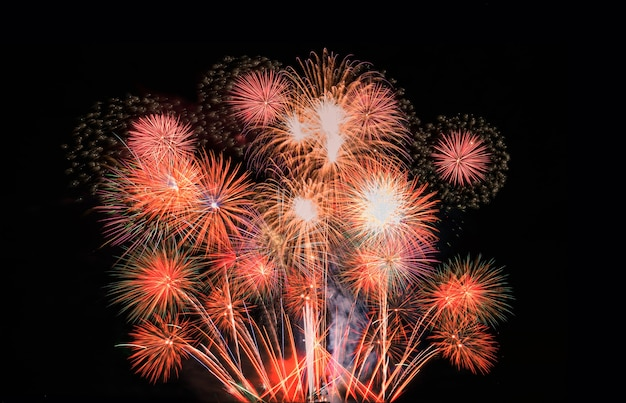Fogos de artifício abstratos