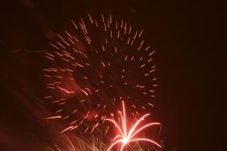 Fogos de artifício, bombas, blowup, newyears