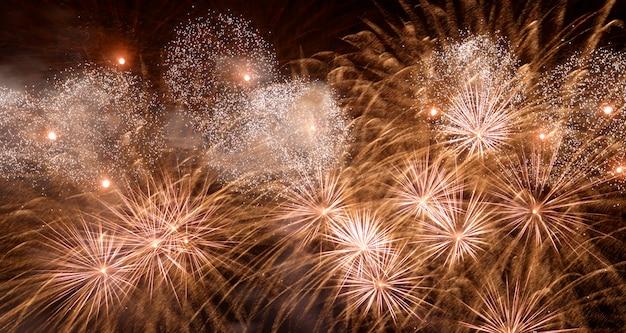 Fogos de artifício celebração de ano novo