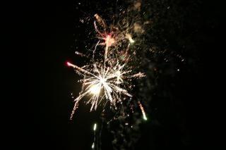 Fogos de artifício, cores, blowup