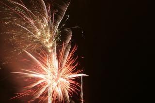 Fogos de artifício, cores, newyears