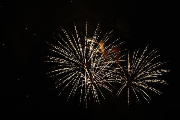 Fogos de artifício da celebração do ano novo no 4 de julho