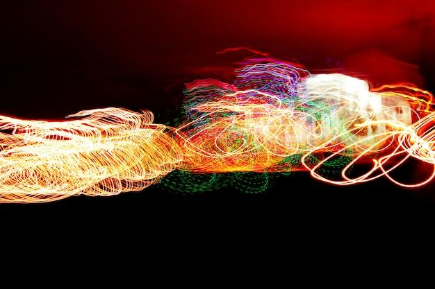 Fogos de artifício desfocados