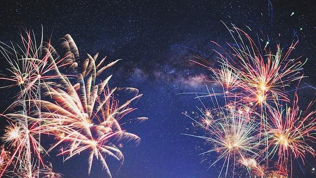 Fogos de artifício do ano novo