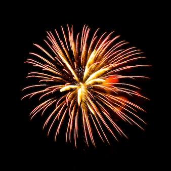 Fogos de artifício - efeito de cores vibrantes