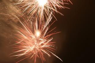 Fogos de artifício, explosões, cores, newyears
