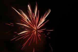 Fogos de artifício, festa, blowup, newyears