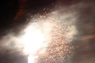 Fogos de artifício, festa, blowup