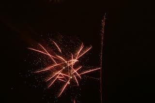 Fogos de artifício, festa, cores