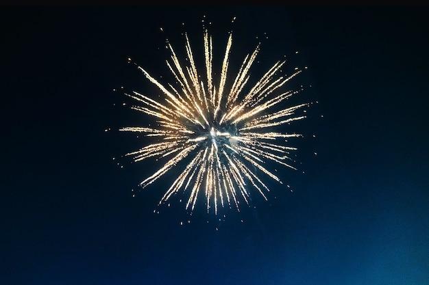 Fogos de artifício iluminando o céu