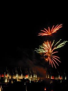 Fogos de artifício, newyears, bomba