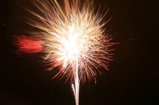 Fogos de artifício, newyears, explosão, blowup