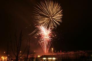 Fogos de artifício, newyears, explosão, fogo de artifício