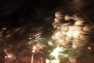 Fogos de artifício, newyears, fogos de artifício