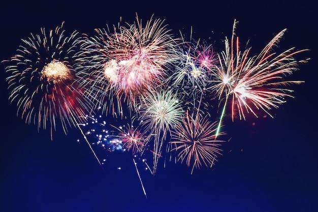 Fogos de artifício no ano novo