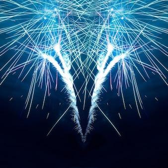 Fogos de artifício no céu negro